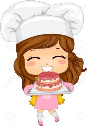 clipart baking chef pastry cake