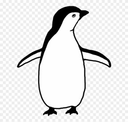 penguin clipart silhouette clipground