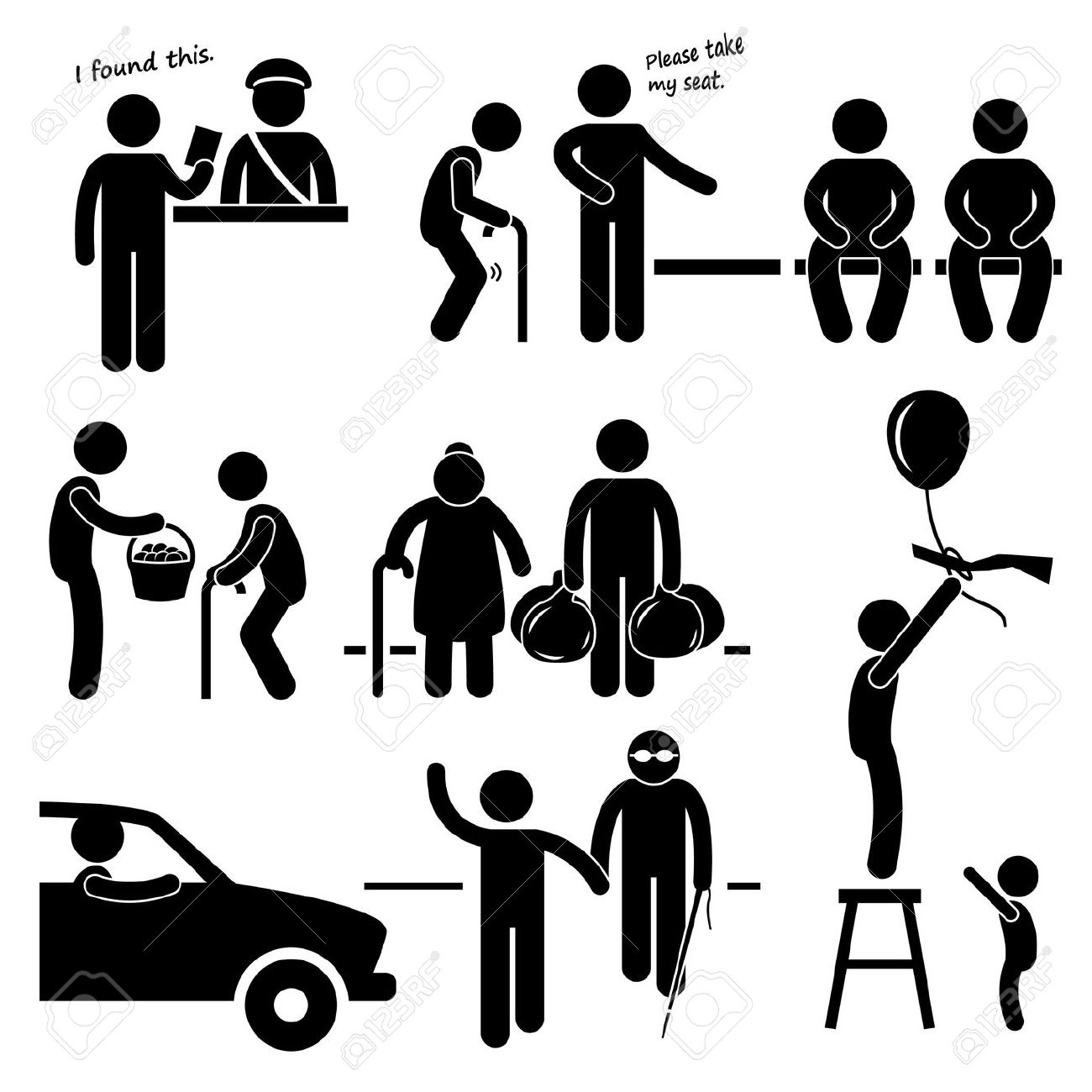 Helping People Clipart Black And White 20 Free Cliparts