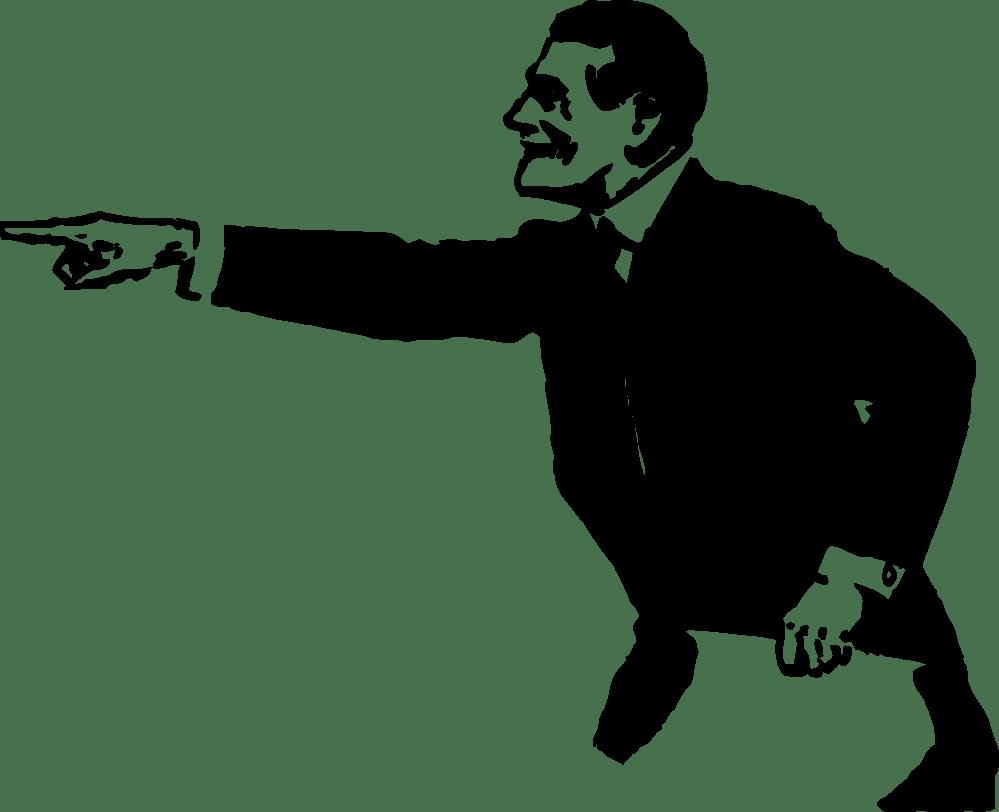 medium resolution of man pointing