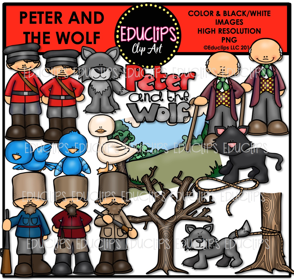 Peter And The Wolf Clipart 20 Free Cliparts