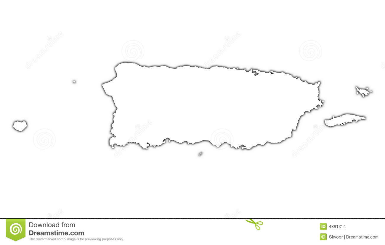 Outline Map Of Puerto Rico