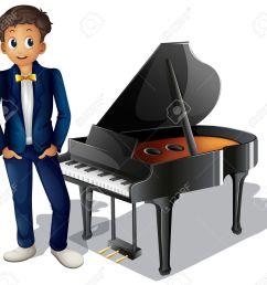 boy playing piano clipart  [ 1300 x 1209 Pixel ]