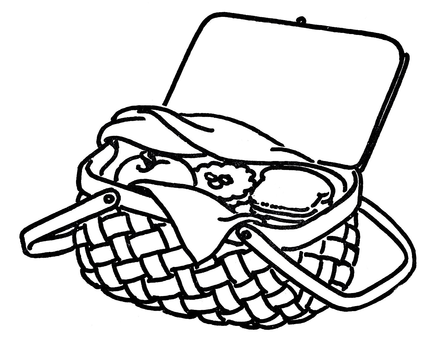 picnic basket clipart black and white 10 free Cliparts