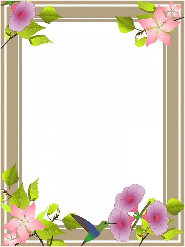 clipart flower borders and frames Clipground