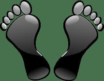 Feet Clip Art Black and White