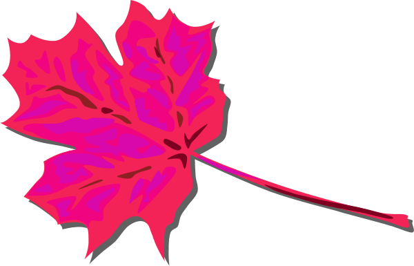 pink leaves clipart - clipground