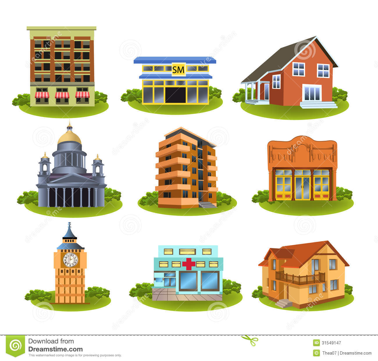 Playing Venues Clipart