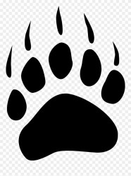 paw bear polar clip print grizzly simple clipart medium clipground pinclipart resolution