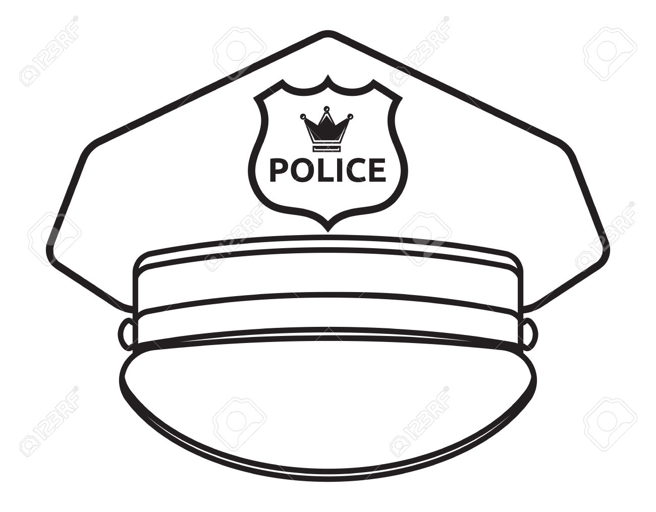 Police Hat Clipart