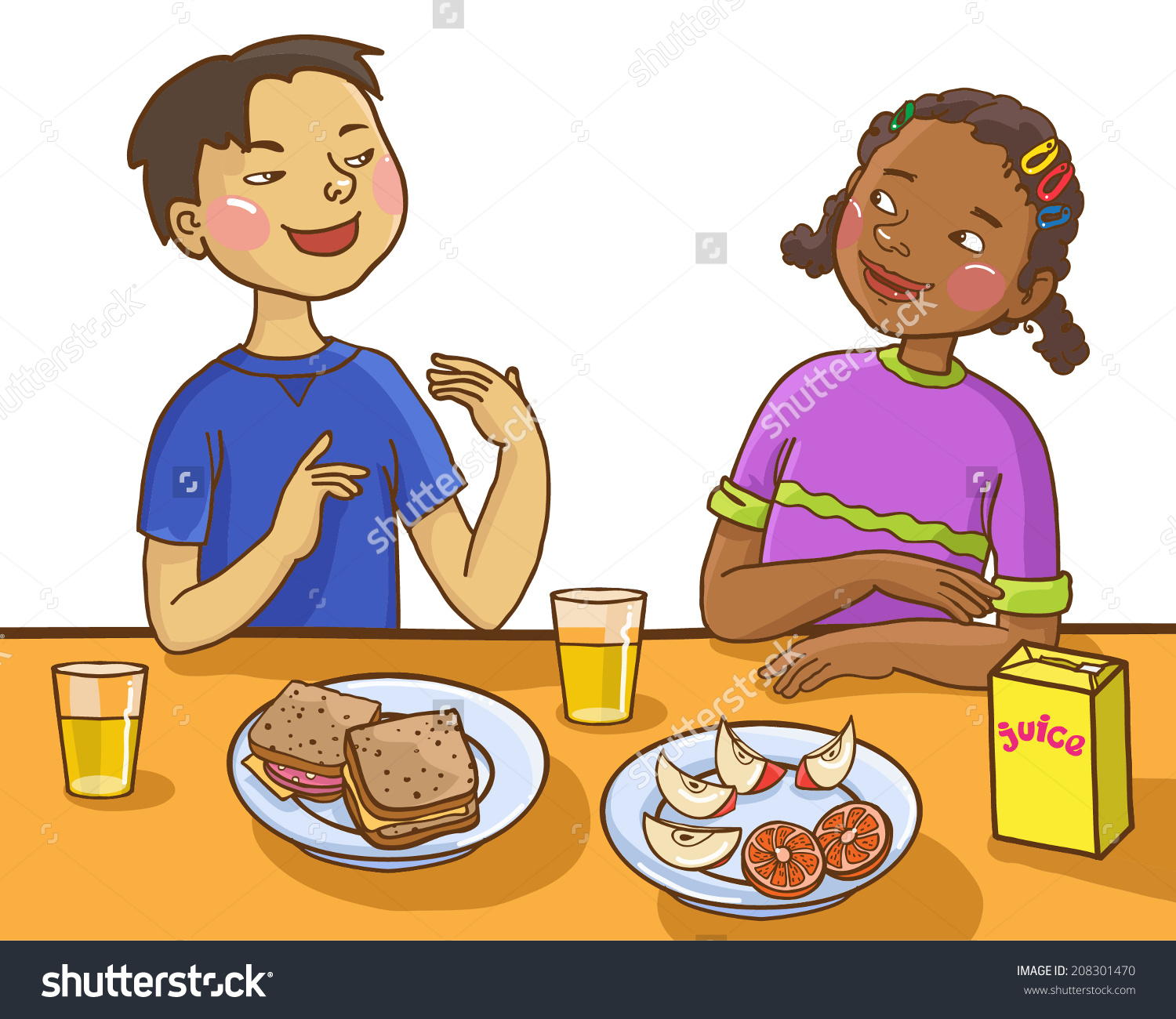 hight resolution of lunch table preschool clipart