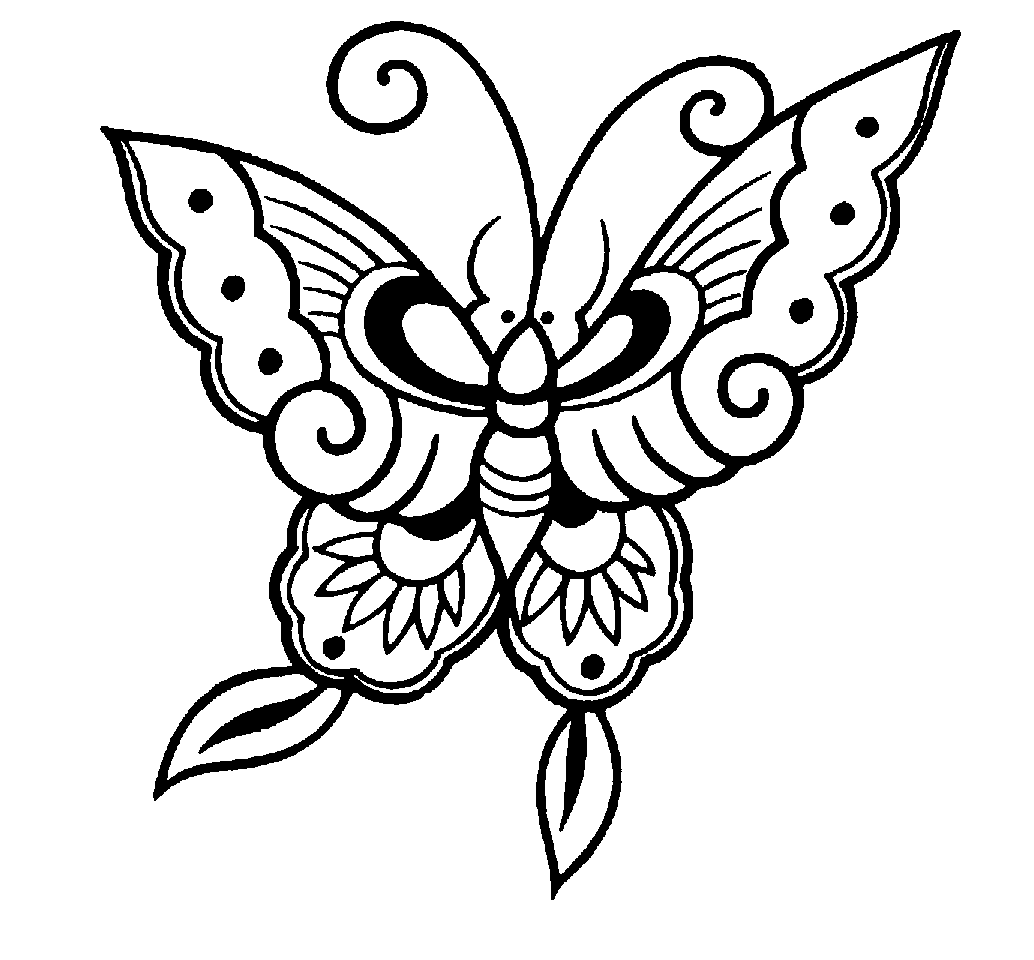 Pretty Butterfly Clipart Black And White 20 Free Cliparts