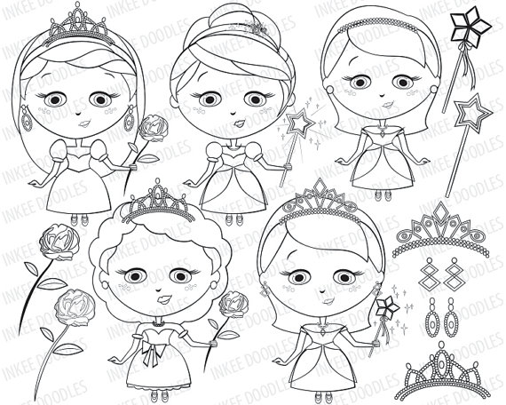 Princess Clipart Black And White Clipground