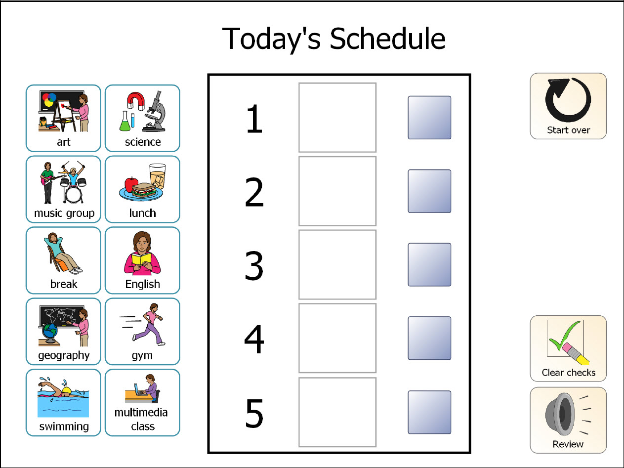 Printable Classroom Schedule Template Clipart