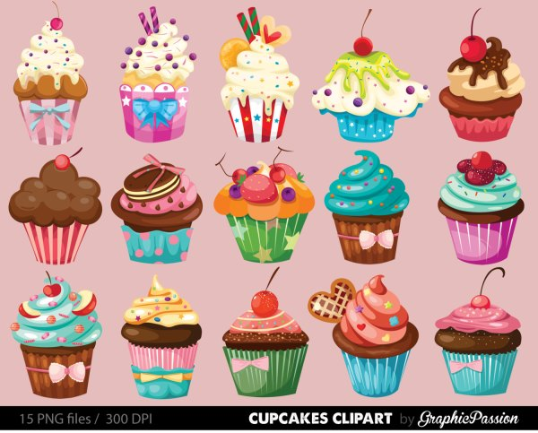 printable cupcake clipart - clipground