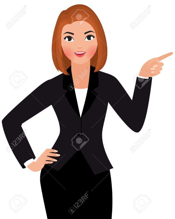 Professional Woman Cartoon Clip Art