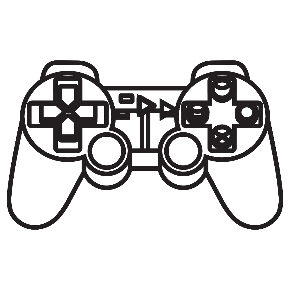 Ps4 Game Controller Drawing