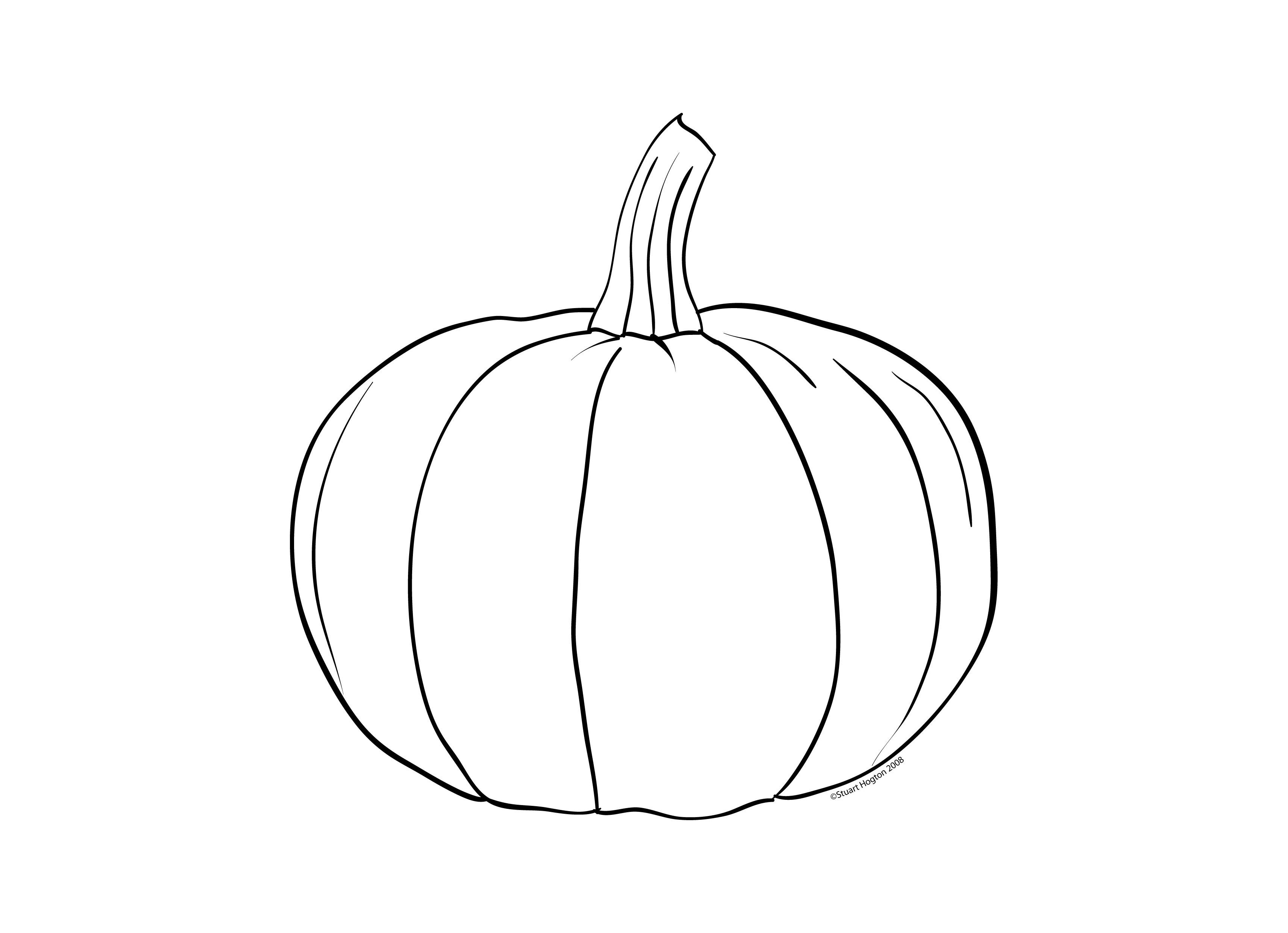 Pumpkin Clipart Black And White Fancy