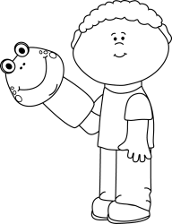 puppet clipart boy clip playing cliparts outline help mycutegraphics graphics clipground frog