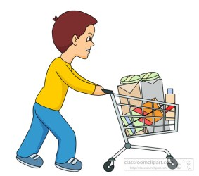 pushing cart shopping push clipart boy clip grocery household classroom transparent clipground background