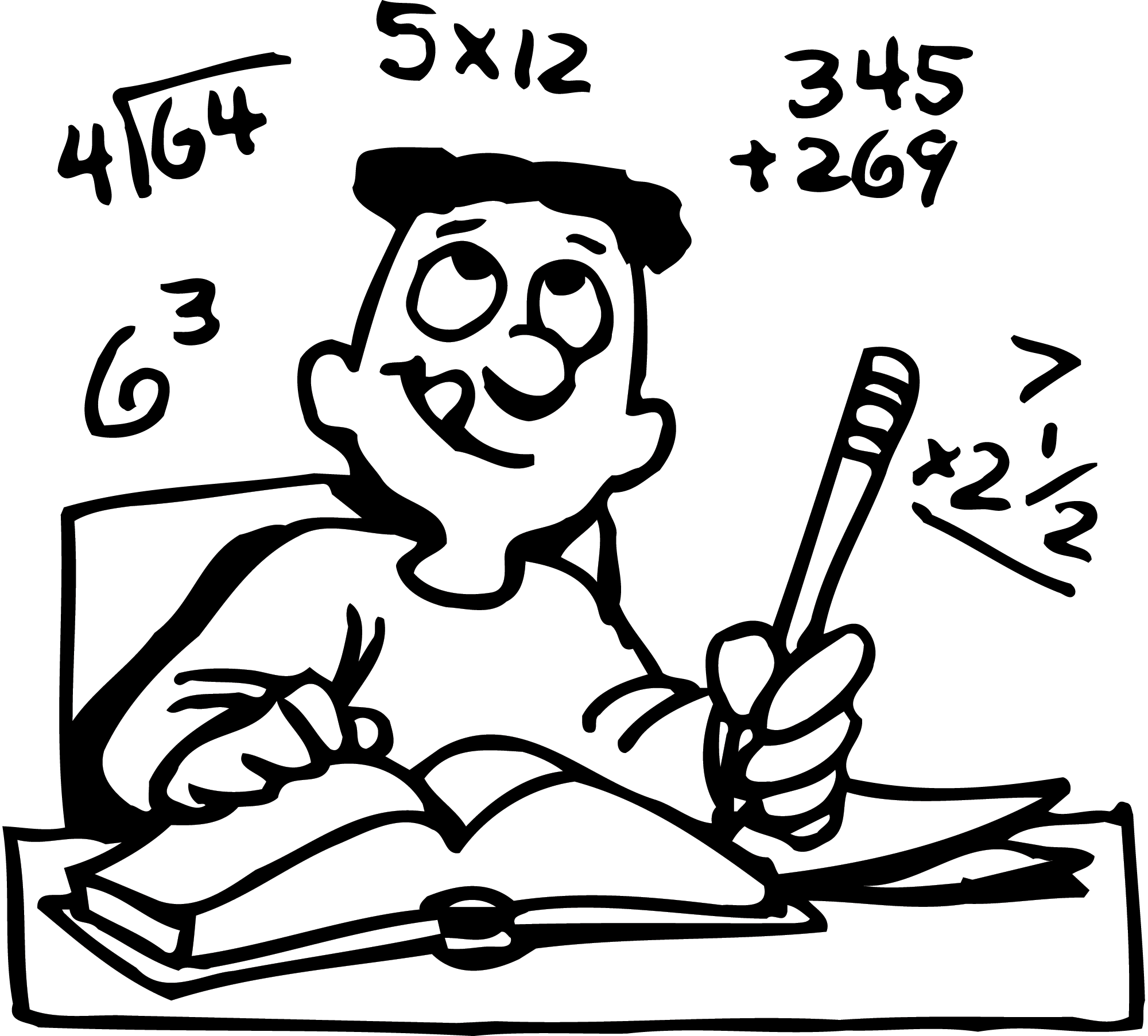 black and white clipart math class 20 free Cliparts