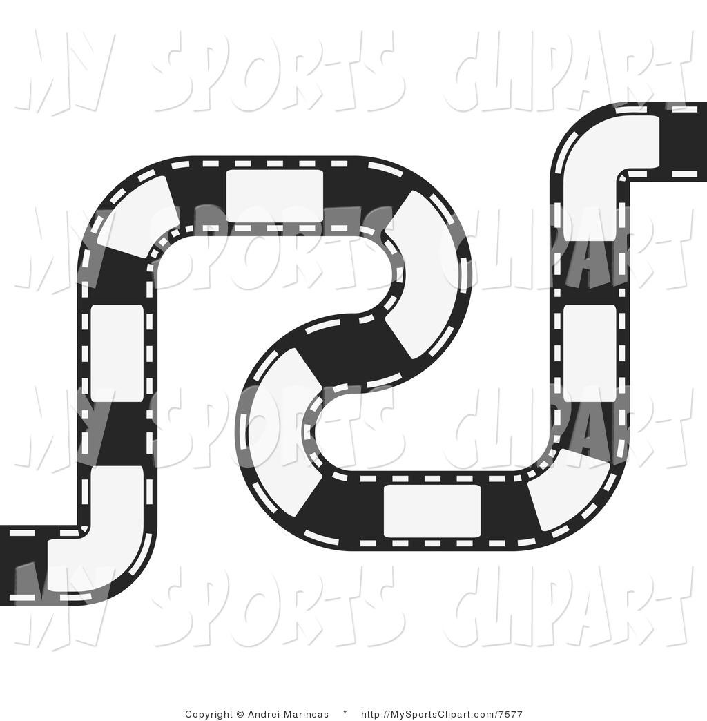 Racetrack Number 1 Clipart