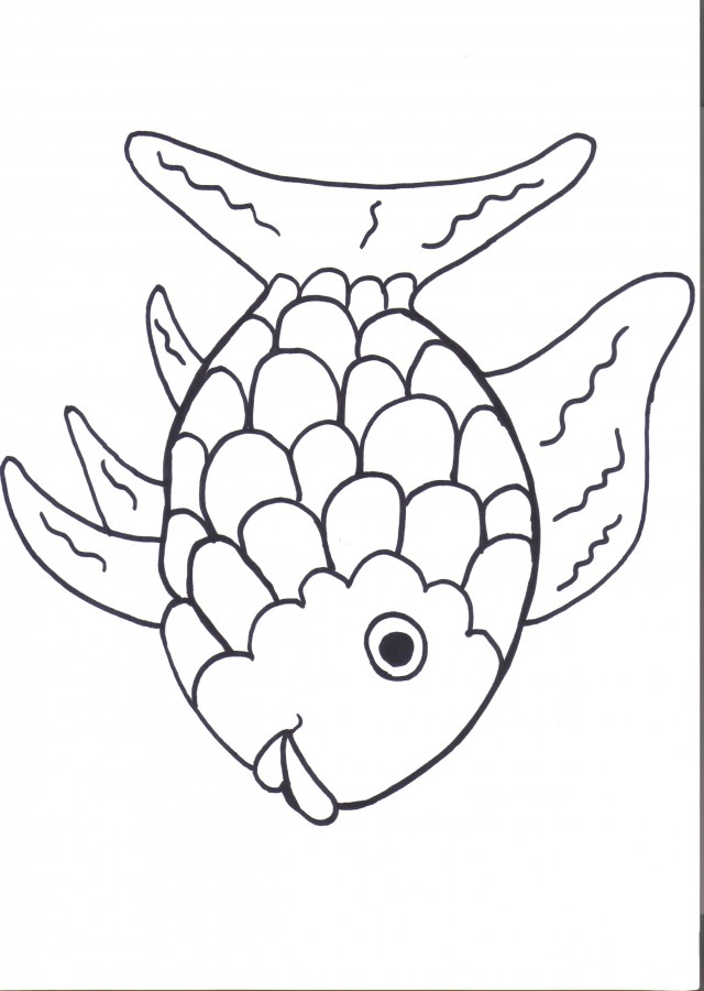 rainbow fish clipart black and white 20 free Cliparts