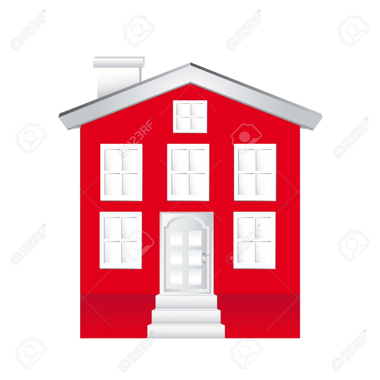 Red Building Clipart Clipground