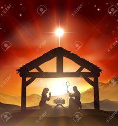 red christmas nativity clipart  [ 1300 x 1300 Pixel ]