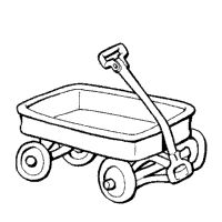red wagon clipart black and white 20 free Cliparts