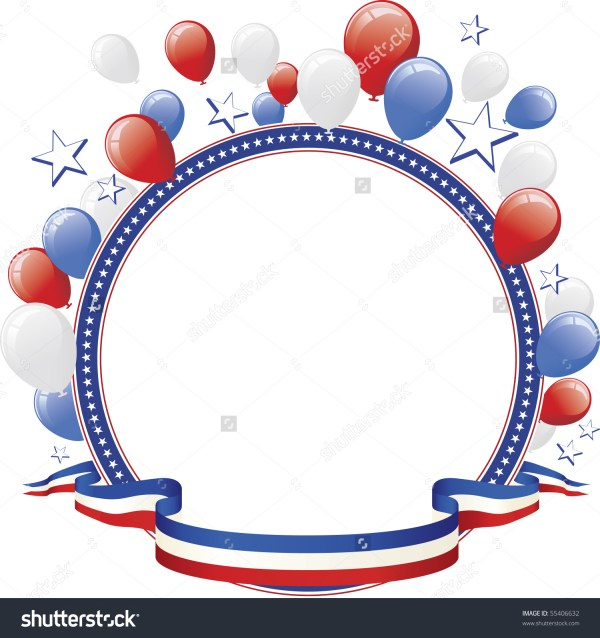 red white and blue balloon clipart