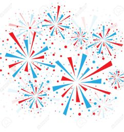 red white and blue fireworks clipart [ 1300 x 1300 Pixel ]