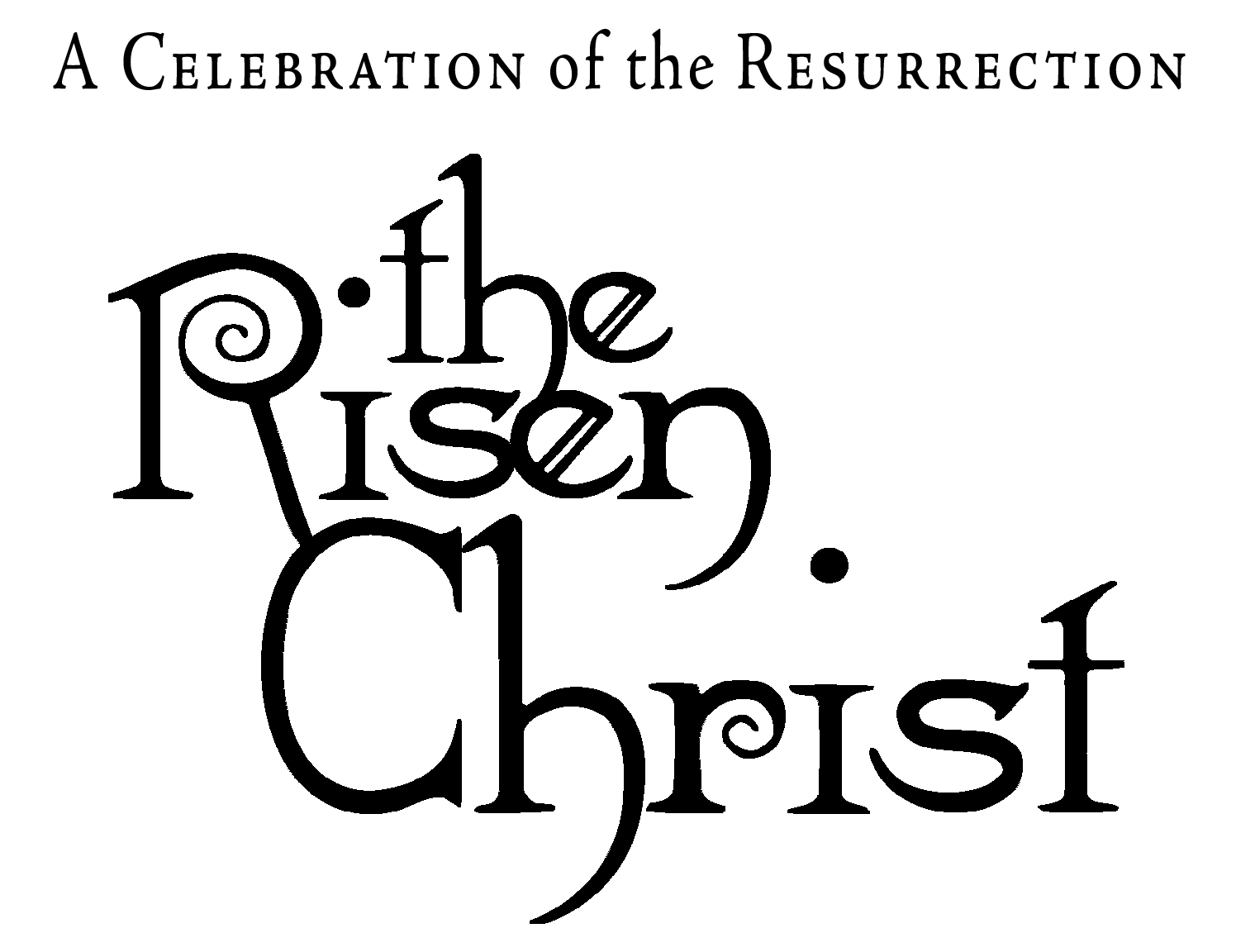 Religious Easter Clipart Blac
