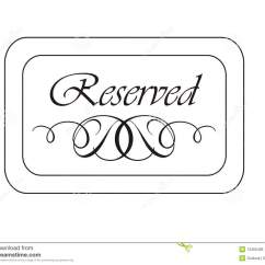 Reserved Signs For Chairs Template Does Kmart Have Bean Bag Seating Clipart Clipground