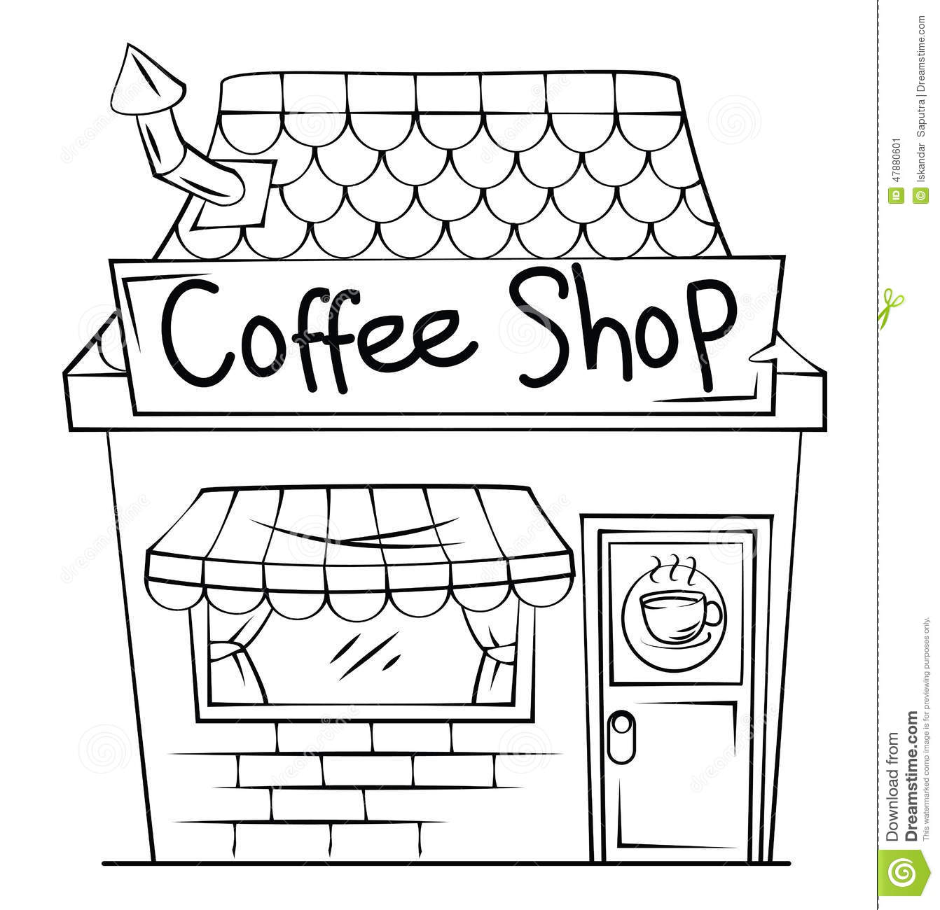 Restaurant Building Clipart Black And White 10 Free