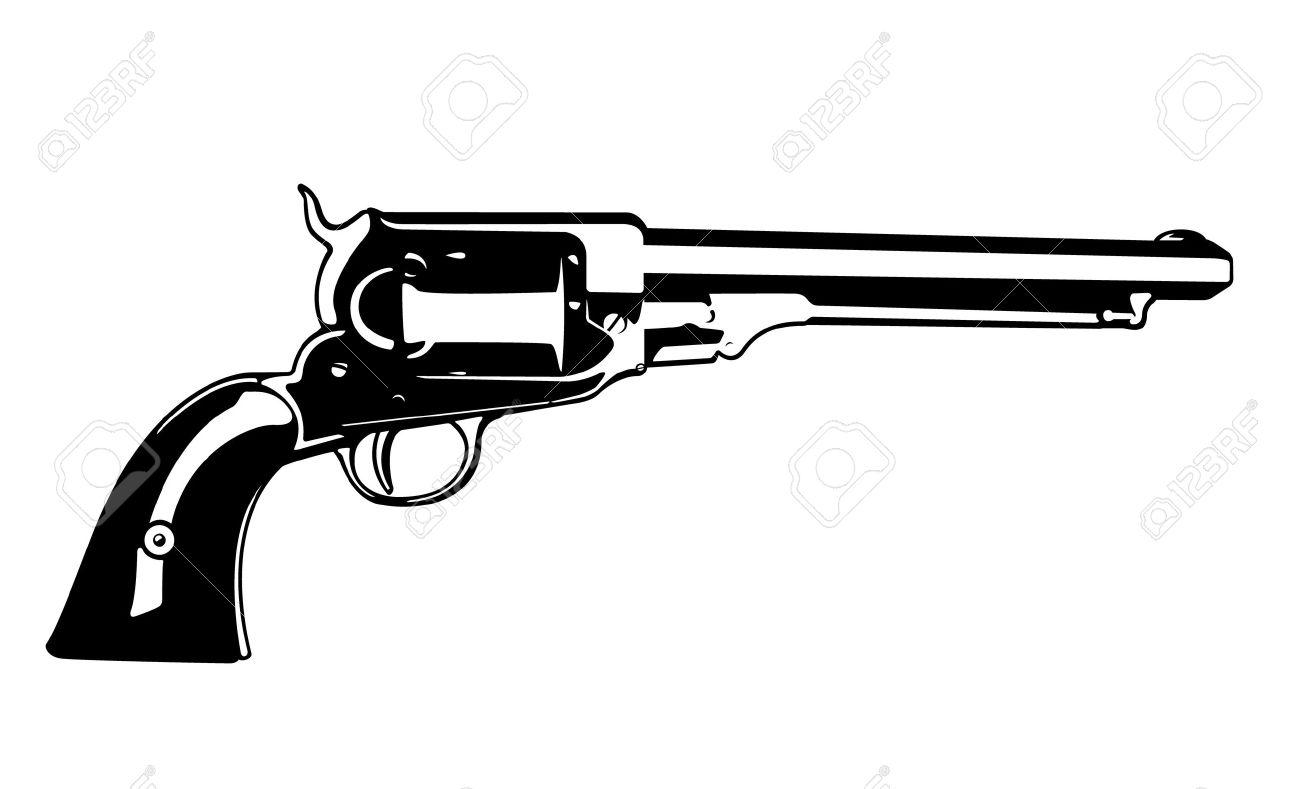 Revolver Vector Clipart