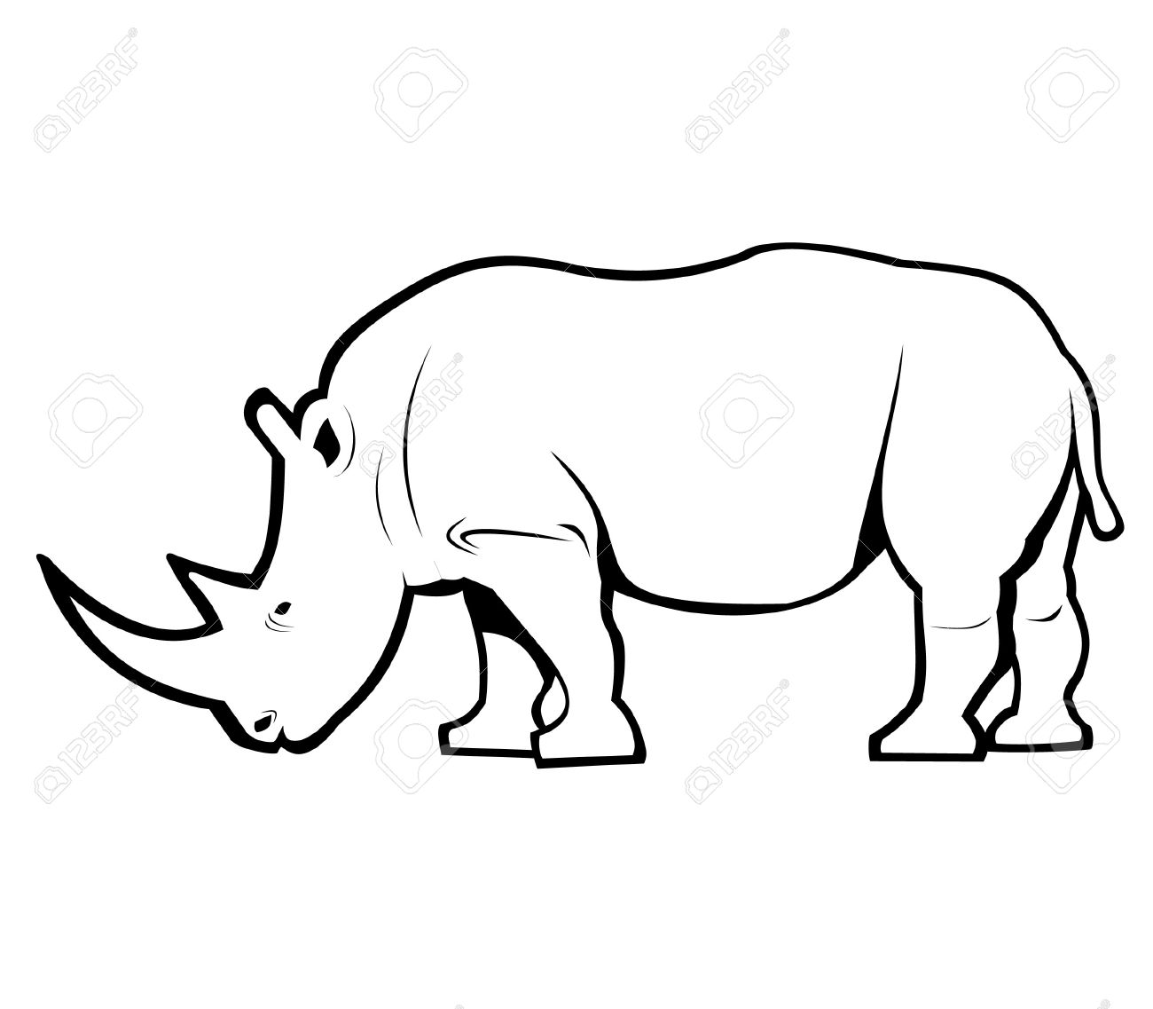 Rhino Outline Clipart