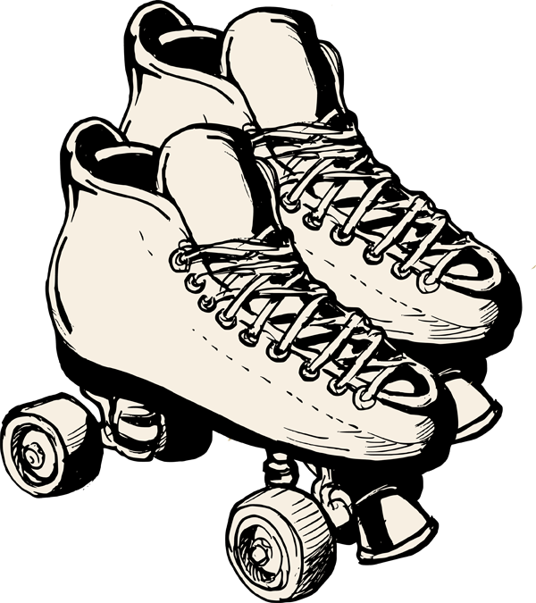 Silolettes Roller Skating Clip Art