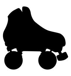 roller skate chalkboard vinyl roller derby by thebitemeboutique  [ 1159 x 1500 Pixel ]
