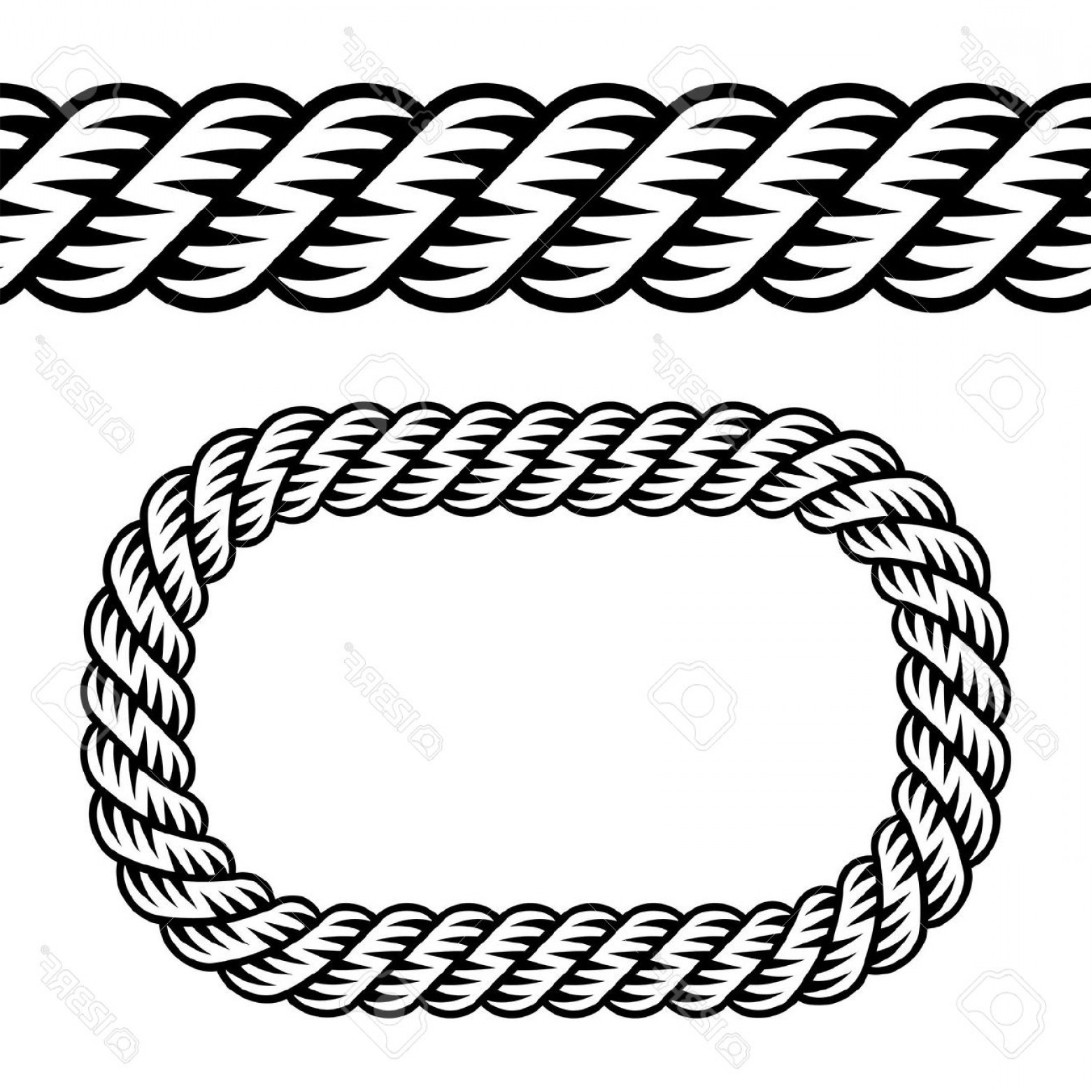 Rope Frame Silhouette Clipart