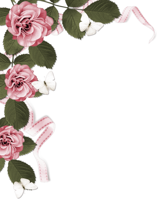 Roses Page Border - Clipground