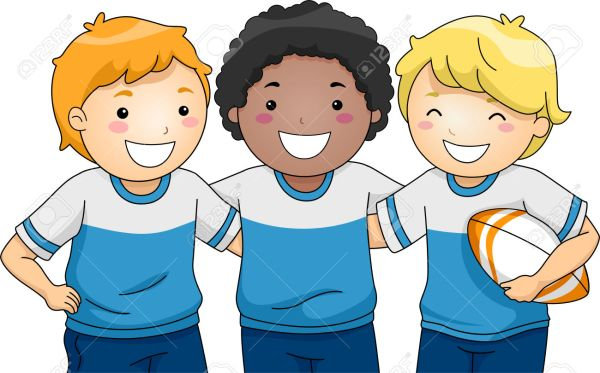 rugby kids clipart - clipground