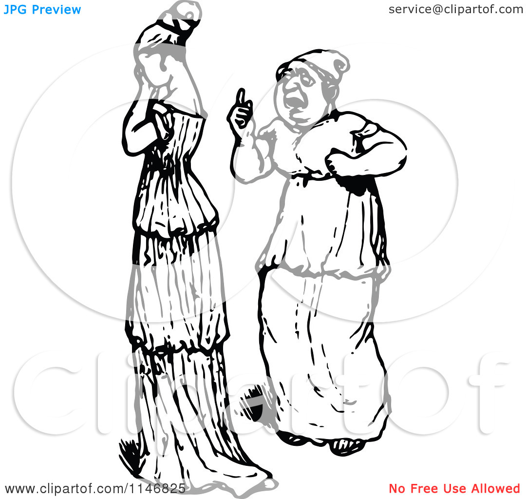 Sad Woman Talking Clipart Black And White