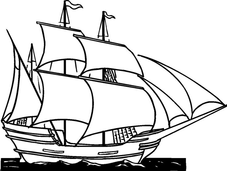 Caravel Clipart Ship Boat Drawing Pictures