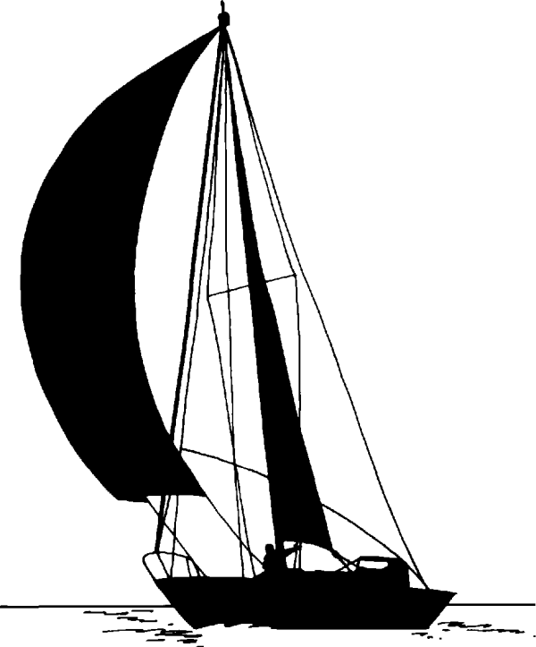 Sailboat Clipart Black And White - Clipground