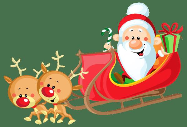 santa sleigh free clipart - clipground
