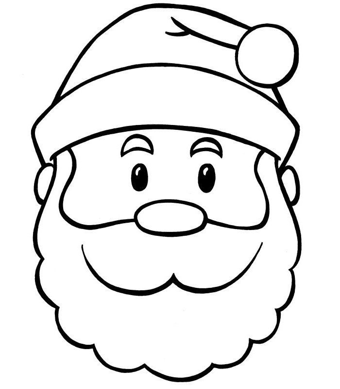 santa claus face clipart black and white 20 free Cliparts