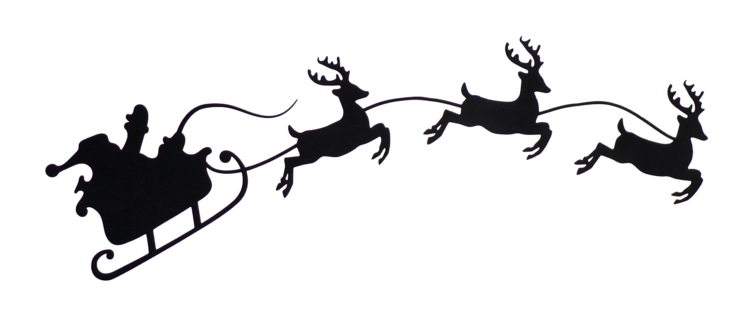 Santa Reindeer Silhouette Clipart 10 Free Cliparts