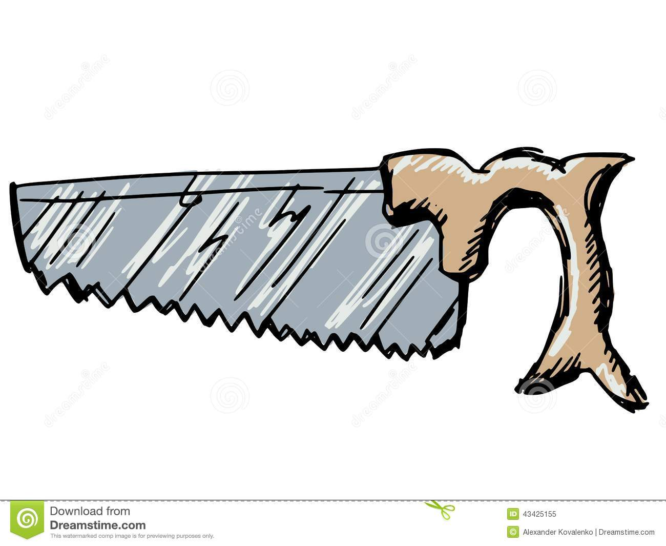 hight resolution of crosscut saw