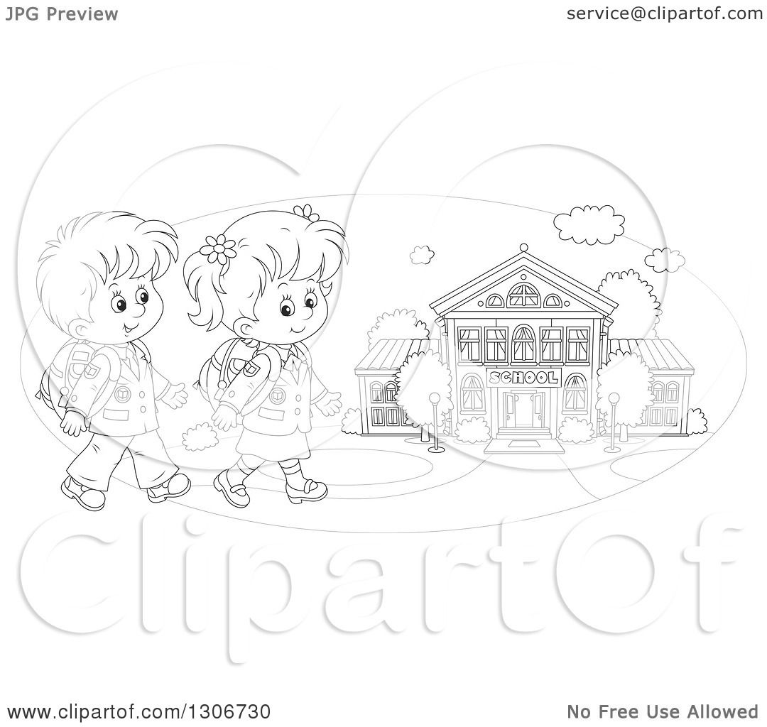 School Children Clipart Outline 20 Free Cliparts